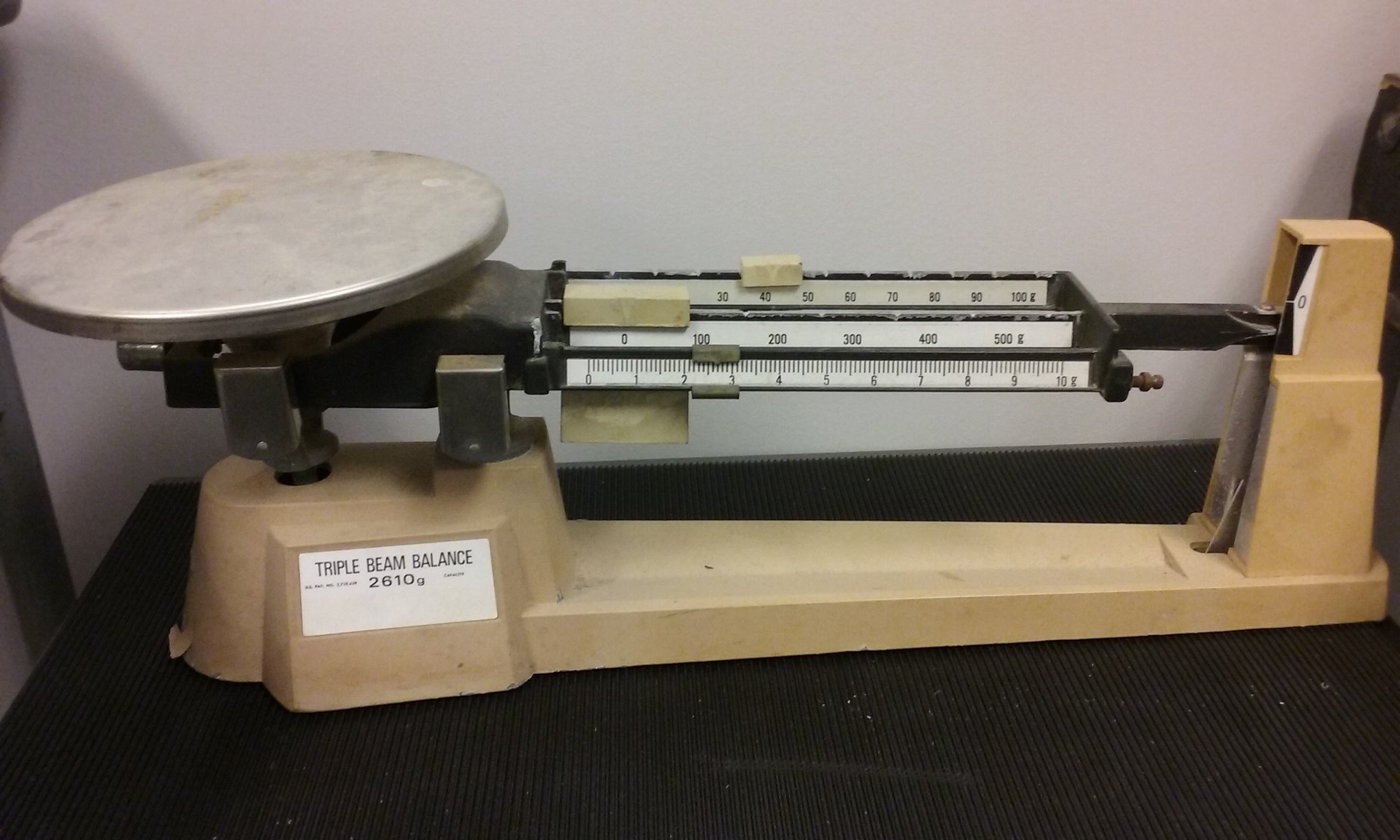 photo of standard triple beam balance