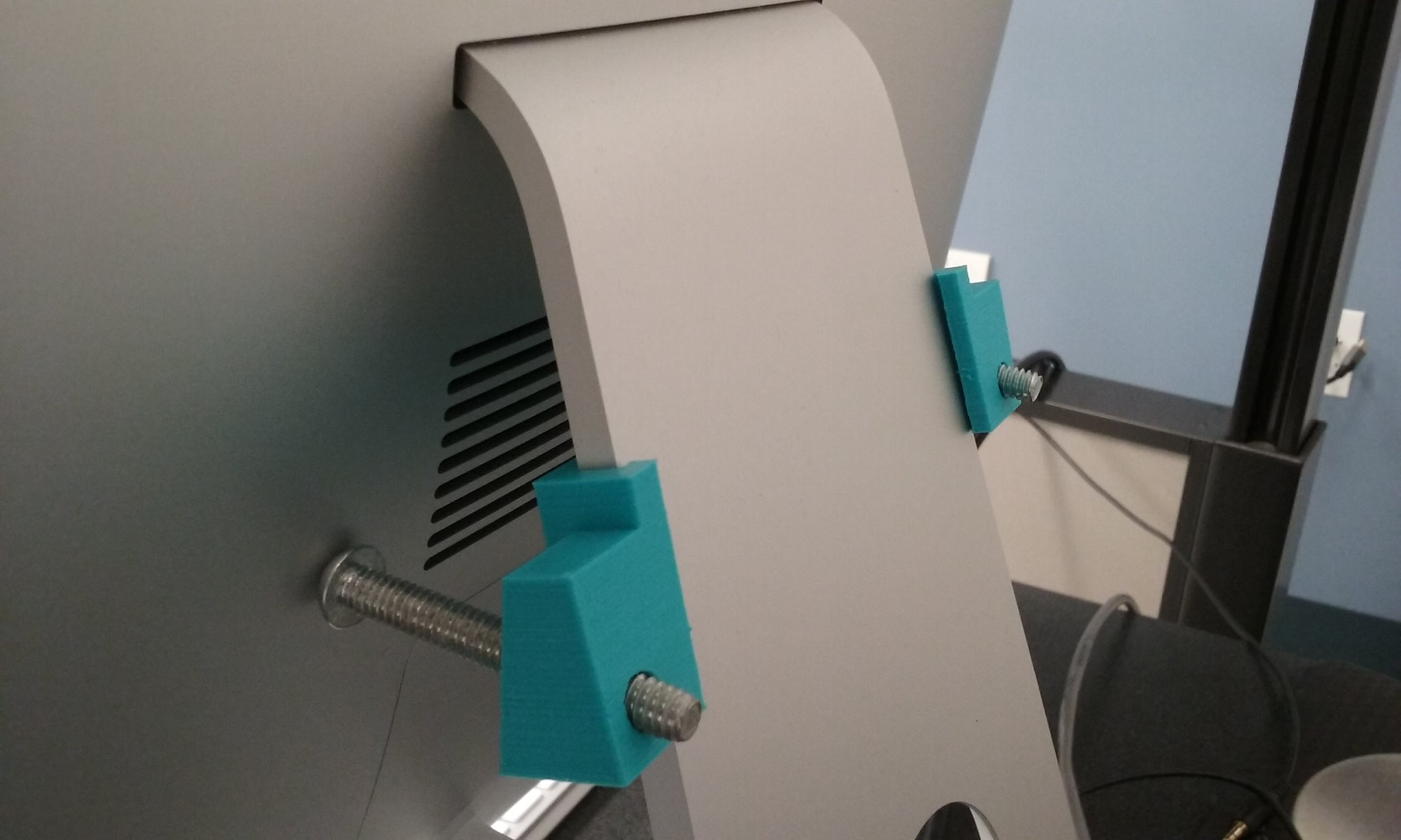 Photo of support installed